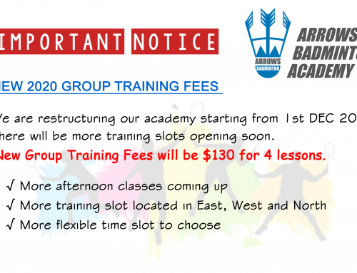 New 2020 Group Training Fees